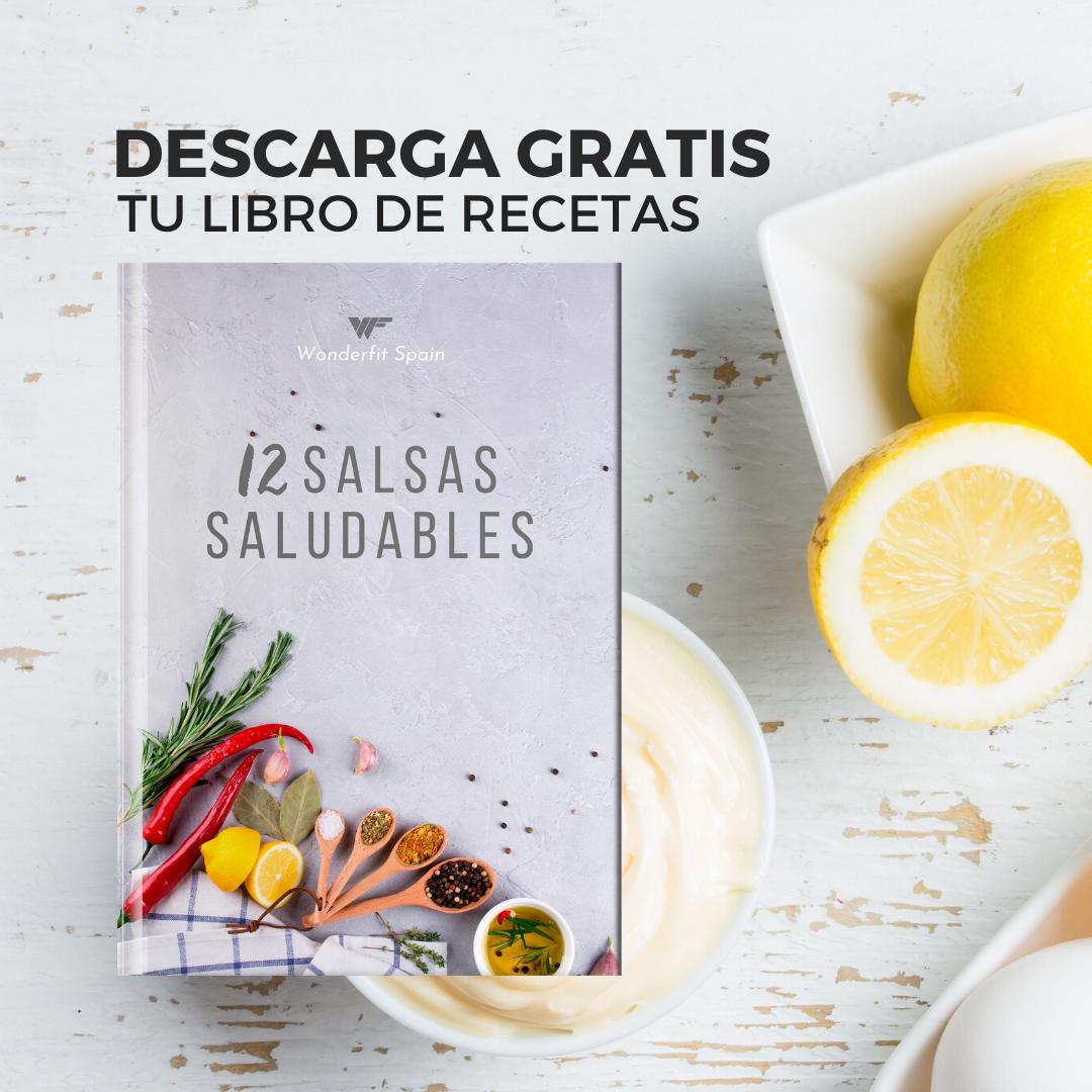 Descarga tu libro de recetas 12 Salsas Saludables Gratis