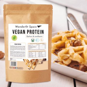 Proteina vegana sabor gofres con avellanas